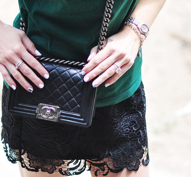 chanel boy bag_lace skirt