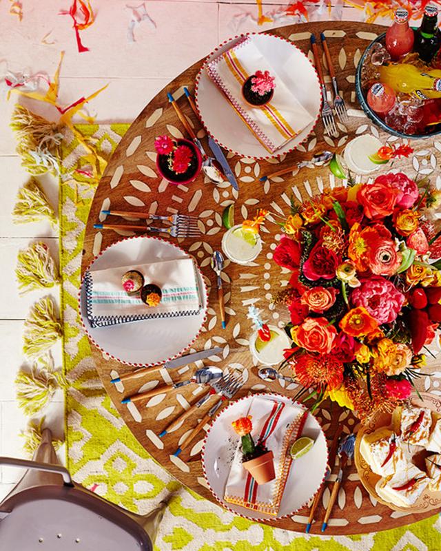 cinco de mayo tabletop setting festive decor