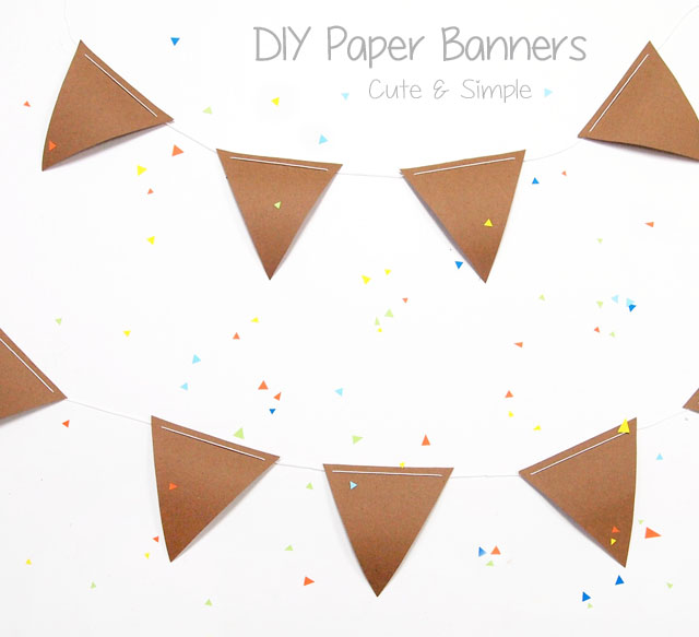 Cute DIY paper banners and pennets