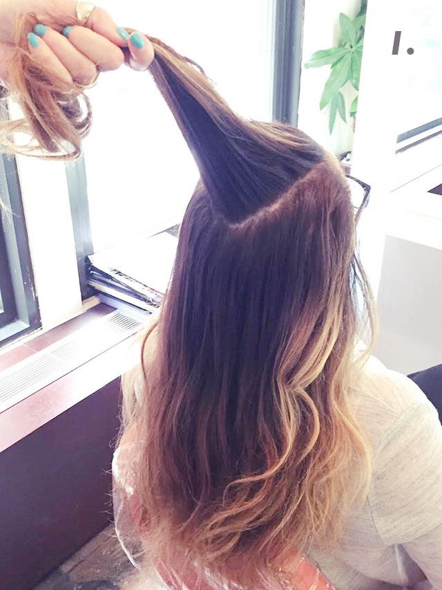 cute halfup up bun hair tutorial_1