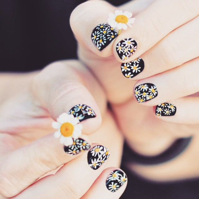 daisy nails diy tutorial