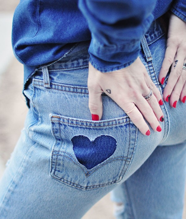 denim on denim_heart pocket diy_vintage levis