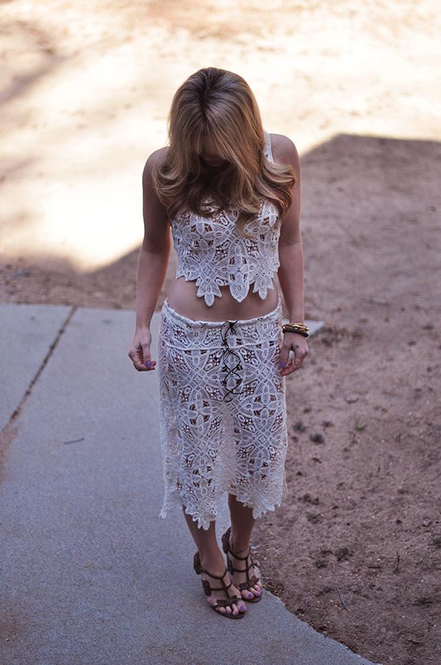 5b2b11b934cb2 DIY    Lace Dress Refashion to Skirt   Crop Top