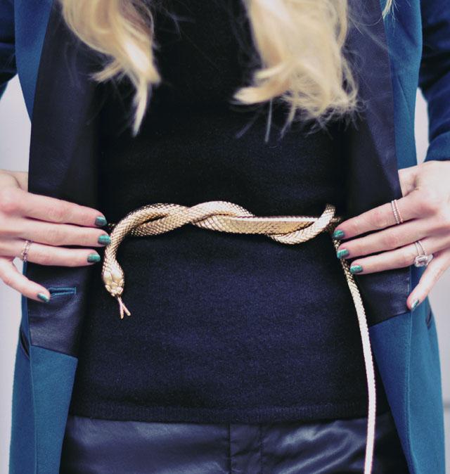 diy gold snake belt