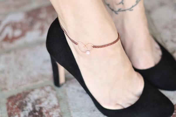 diy heart anklet ankle bracelet