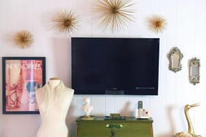 DIY Gold Sea Urchin // Starburst Wall Decor