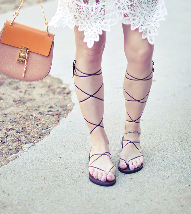 Brand new 2 Super Easy DIY Leather Lace-up Gladiator Sandals | love Maegan AR89