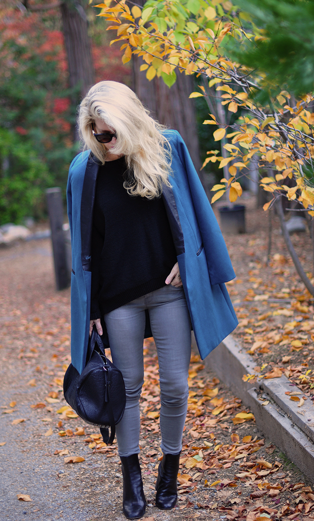 fall-style_grey-jeans_black-sweater_teal-coat_phillip-lim-bag