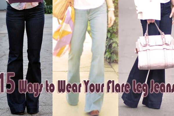 flare leg jeans feature