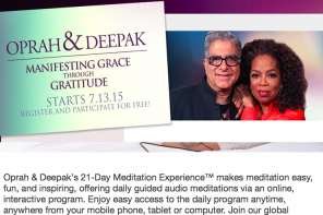 NEW 21 Day Meditation Experience w/ Oprah & Deepak July 2015