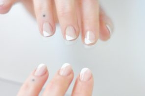 Neutral Nail Art // French Manicure Twist