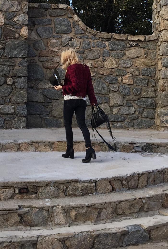 fring jacket-black jeans-boots-boho style