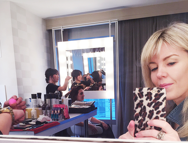 getting makeup done_covergirl