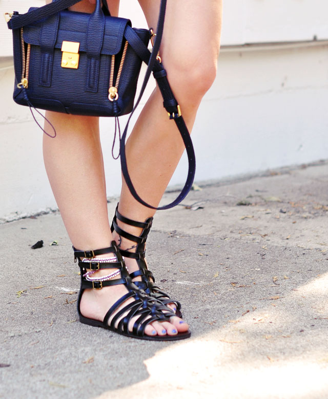 gladiator sandals-phillip lim bag