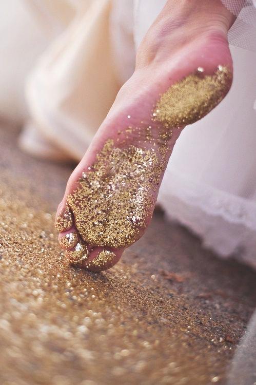 glitter foot