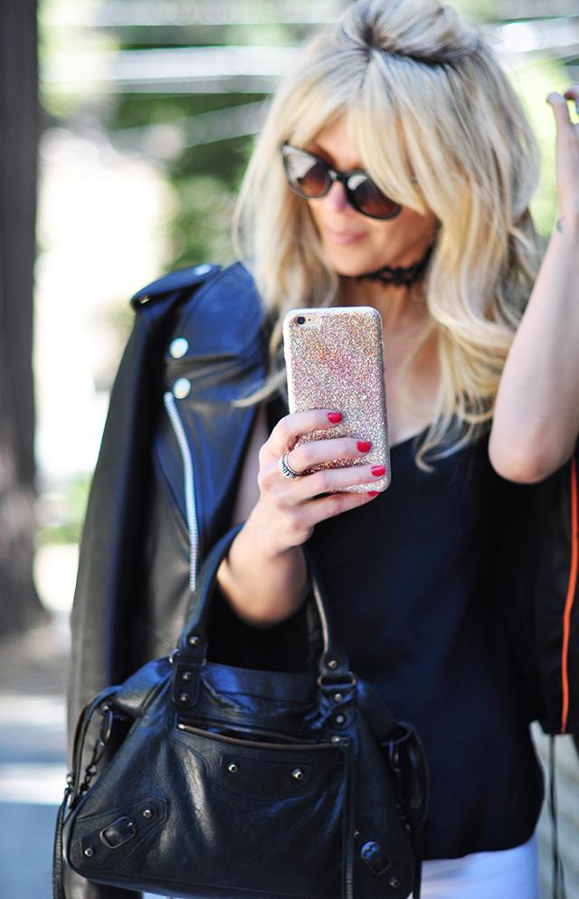 glitter phone case diy