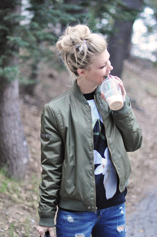 green flight jacket + altuzarra for target lily sweater