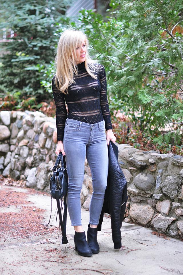 grey jeans_ black lace turtleneck bodysuit