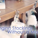 hanging stockings without a mantel or fireplace