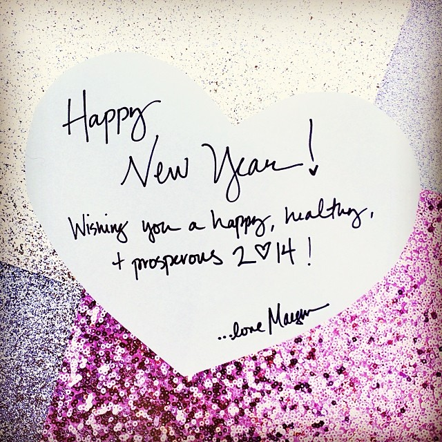 Happy New Year | Cheers to 2014! | ...love Maegan