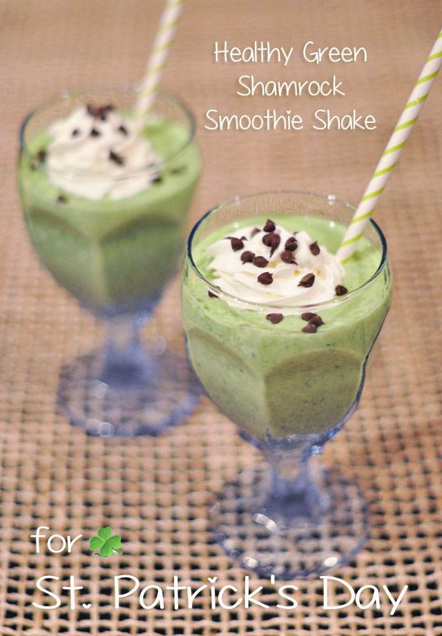 healthy green shakes for  st patricks day