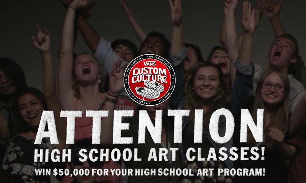 high school art classes vans