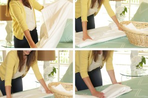 How To Fold a Fitted Sheet Perfectly In Seconds!