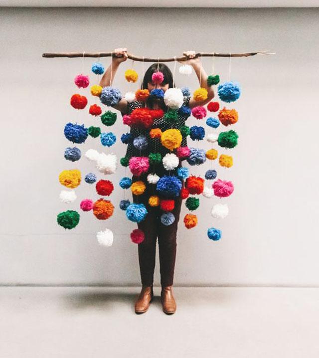 huge yarn pom tassel trim party decor