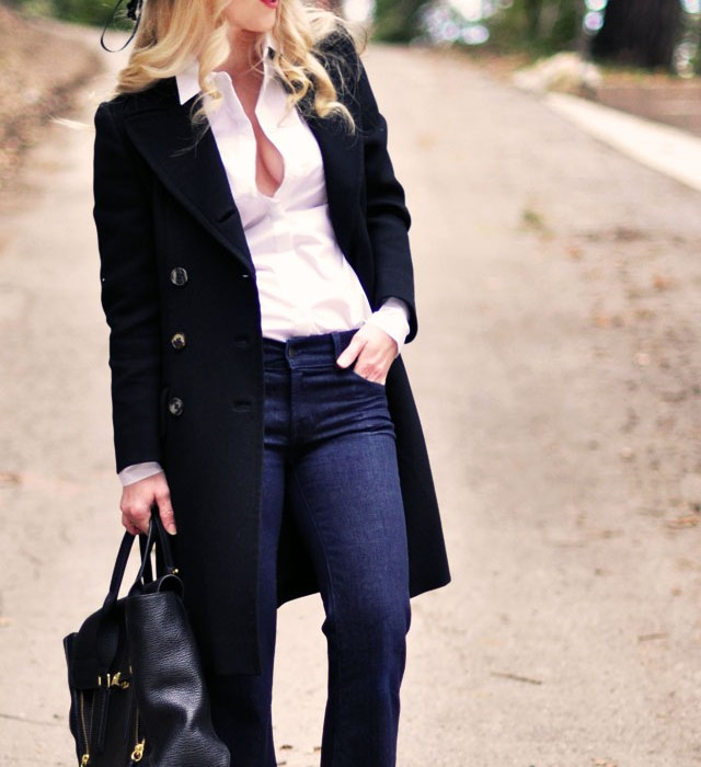 jeans and a white button down  -    floppy hat-vintage jacket