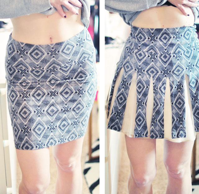 Carwash Pleats DIY Cheerleader Skirt from Jersey Tube ...