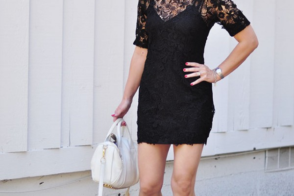 lace mini dress with vans +alexander wang bag