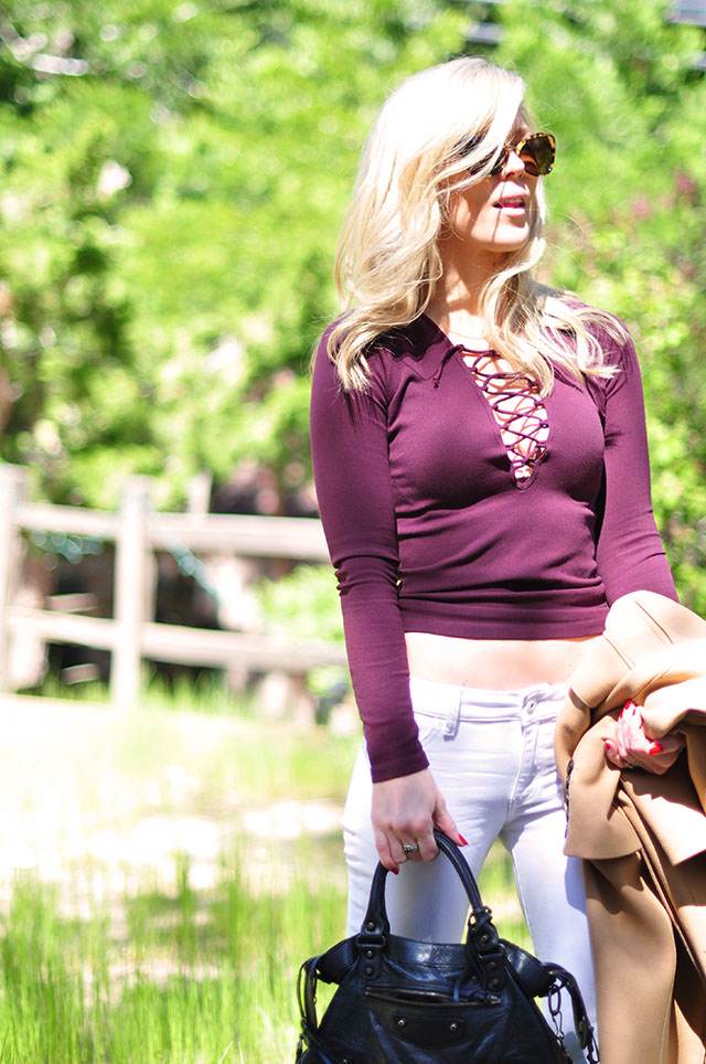 lace up top by free people