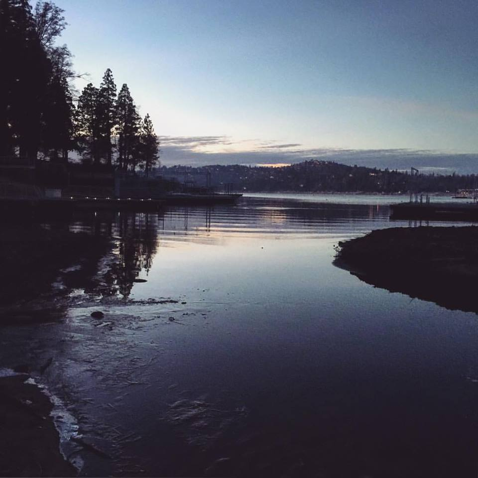 lake arrowhead at dusk