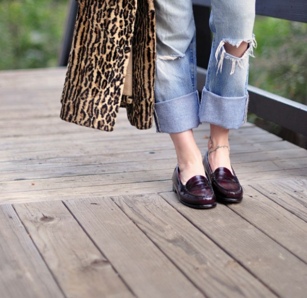 levis loafers leopard-1