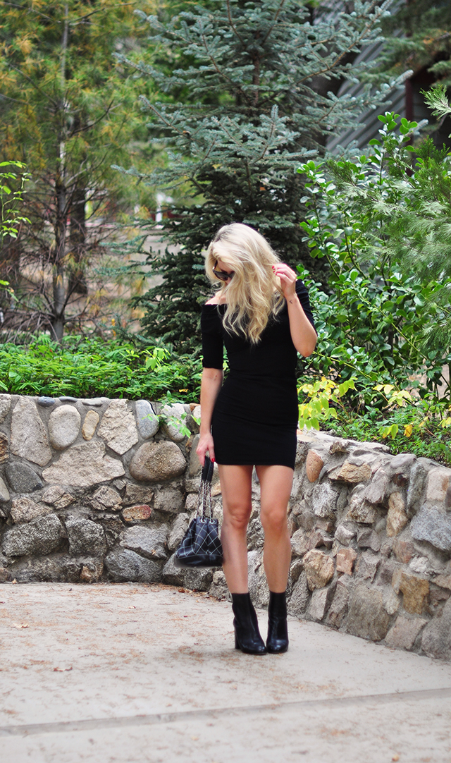 little-black-off-the-shoulder-dress-with-boots-for-fall