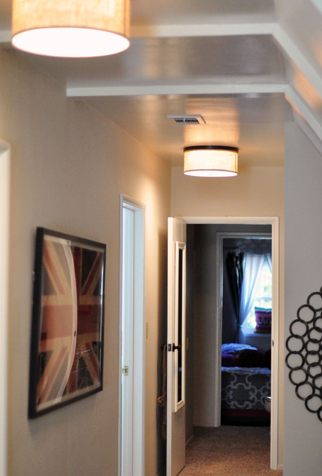 Long Hallway with a Slanted Ceiling & Sitting Area | Currently | ...love Maegan