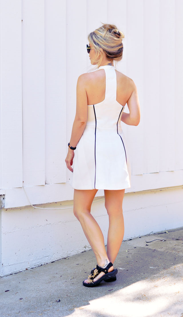 neoprene dress+sport sandals