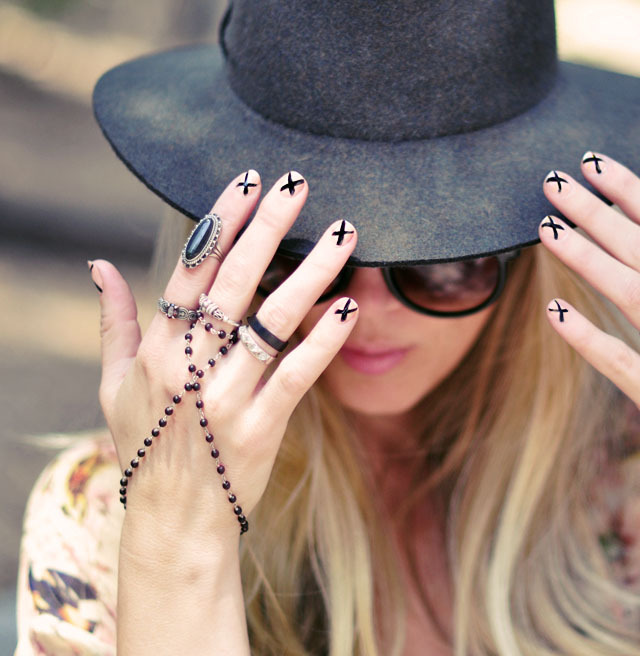 nude+black x nails - bohemian accessories