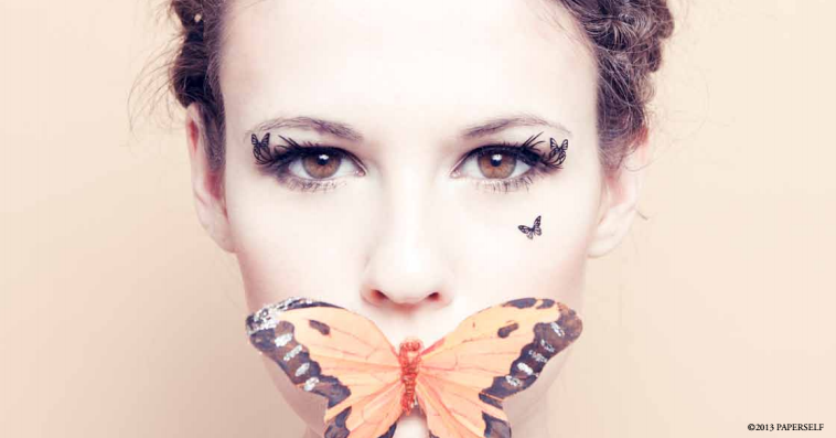 paper butterfly lashes