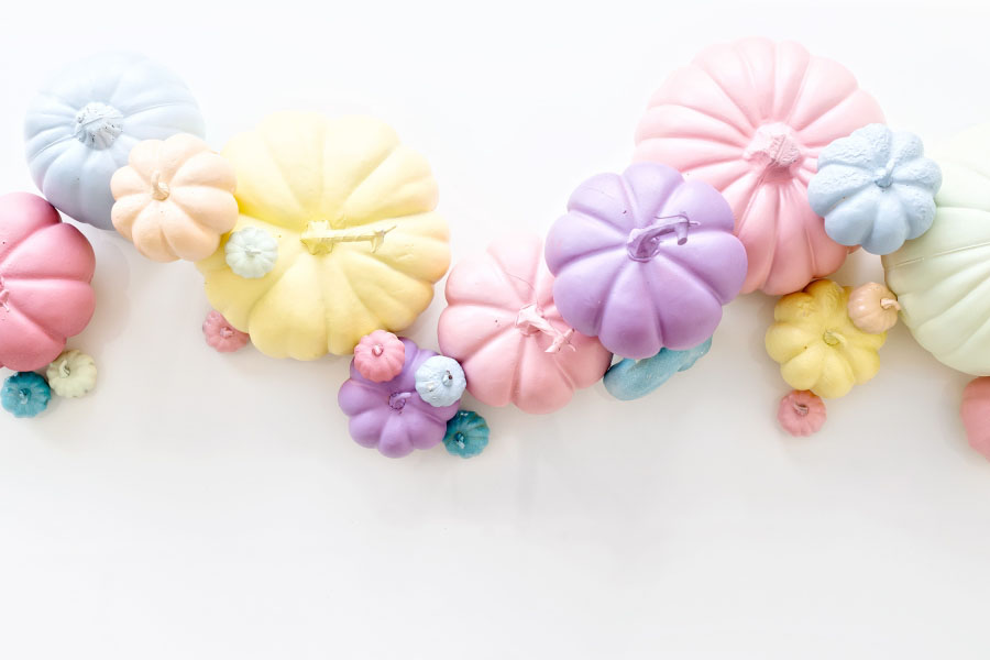 pastel pumpkins for fall baby shower