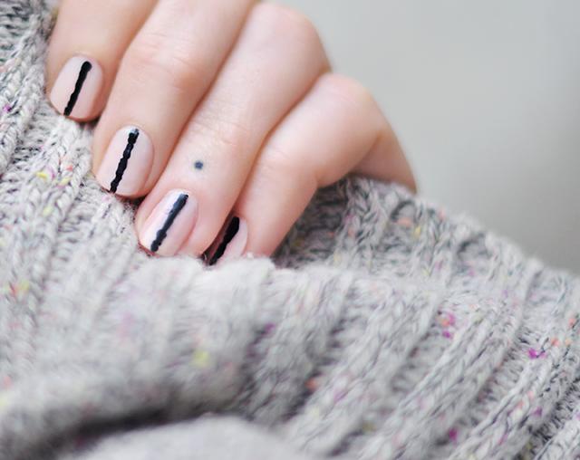 Beauty nails pink black nail art manicure love maegan pink and black nail art prinsesfo Images