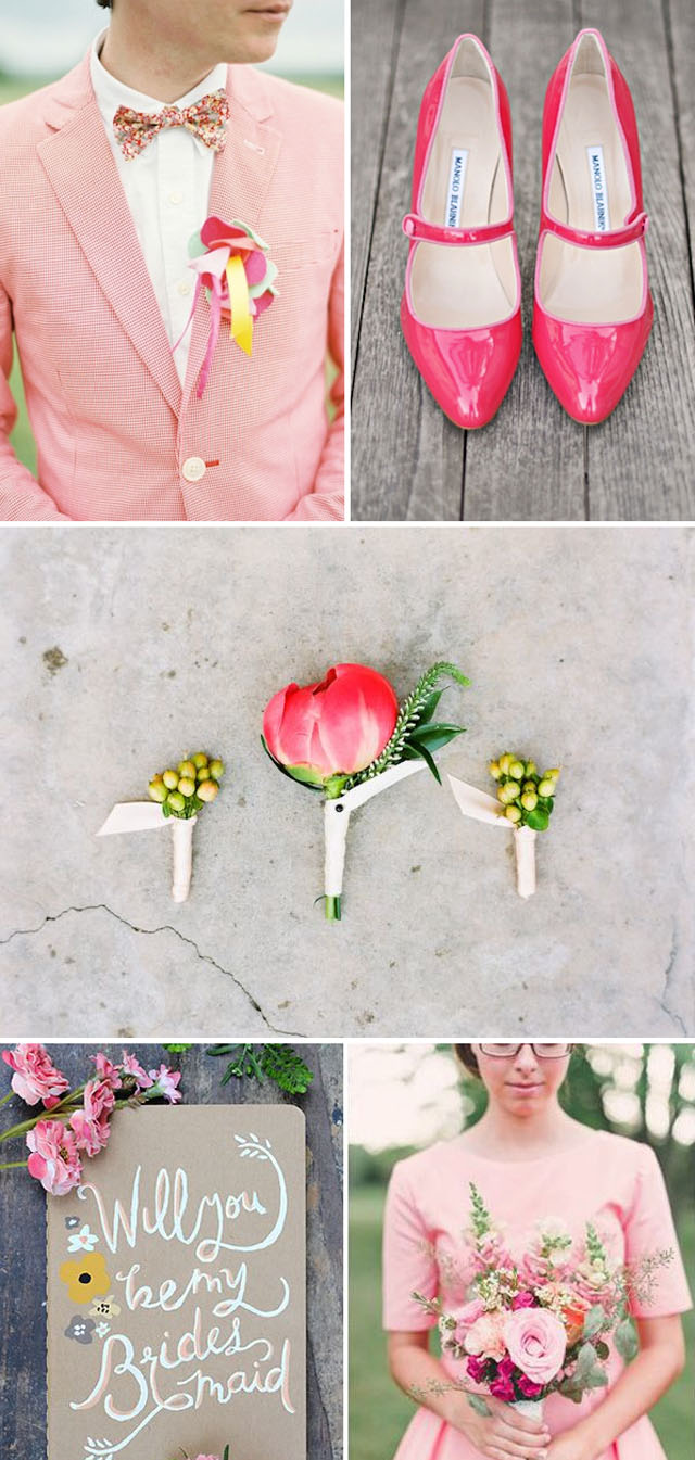 Spring Wedding Color Palette Inspiration ~ Watermelon Pink | ...love ...