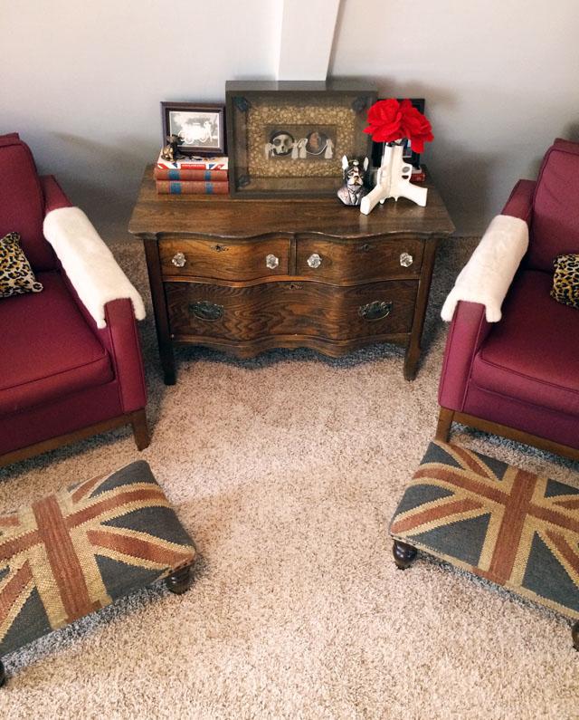 slanted hallway sitting area-victorian-modern-uk-frenchie