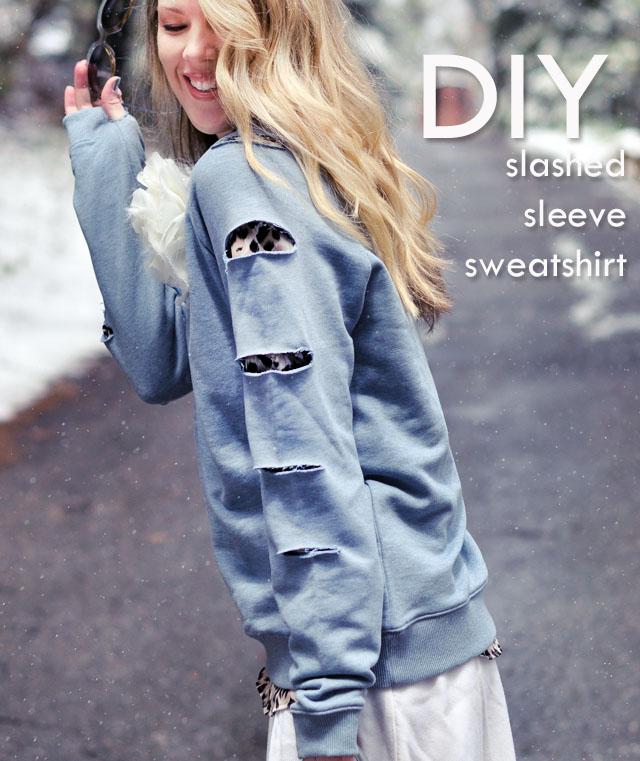 slashed sweatshirt -