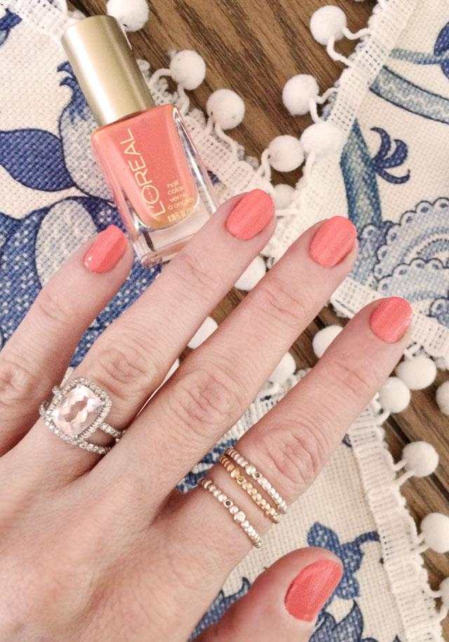 soft summer peachy nails