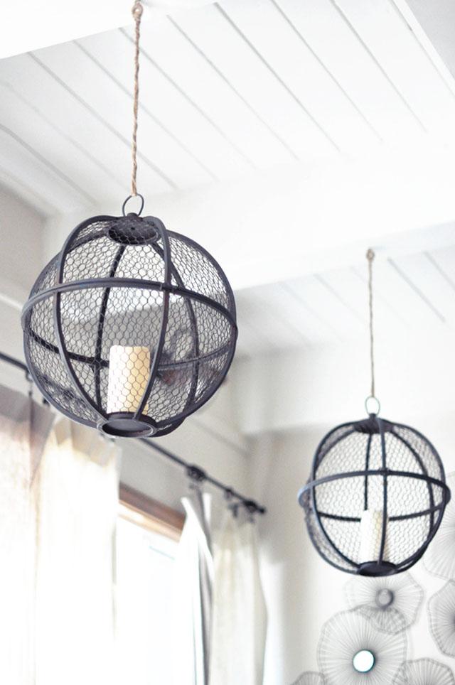 spherical hanging lanterns