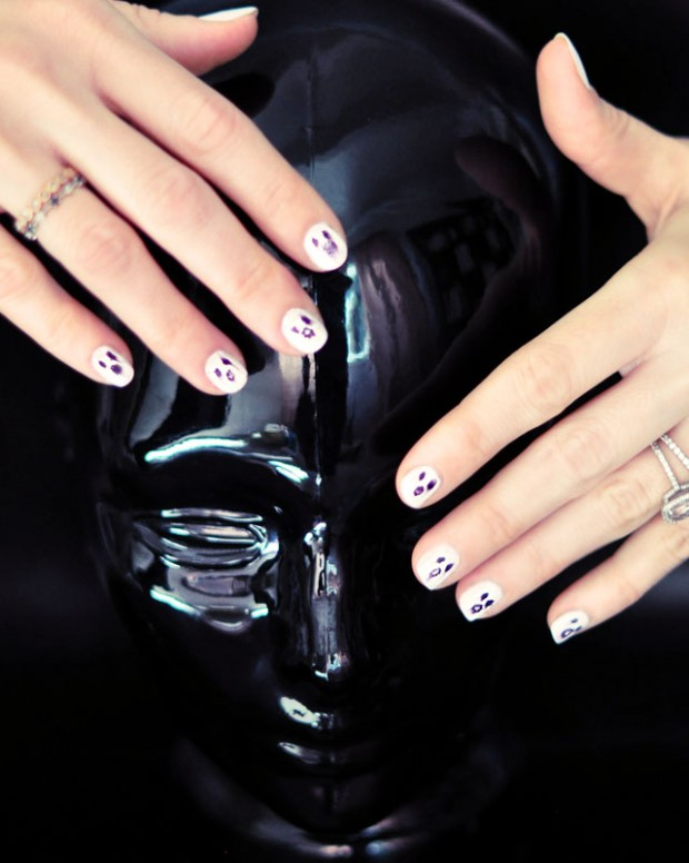 spooky ghoul ghost nail art