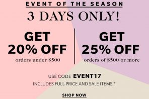 Shopbop Event of the Season 3 Day Sale!