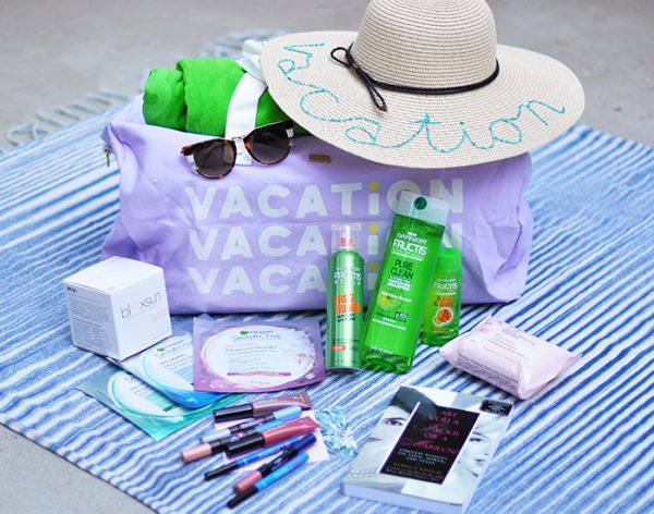 summer vacation giveaway-fendi sunglasses-loreal makeup-garnier hair and skin-bando duffel bag