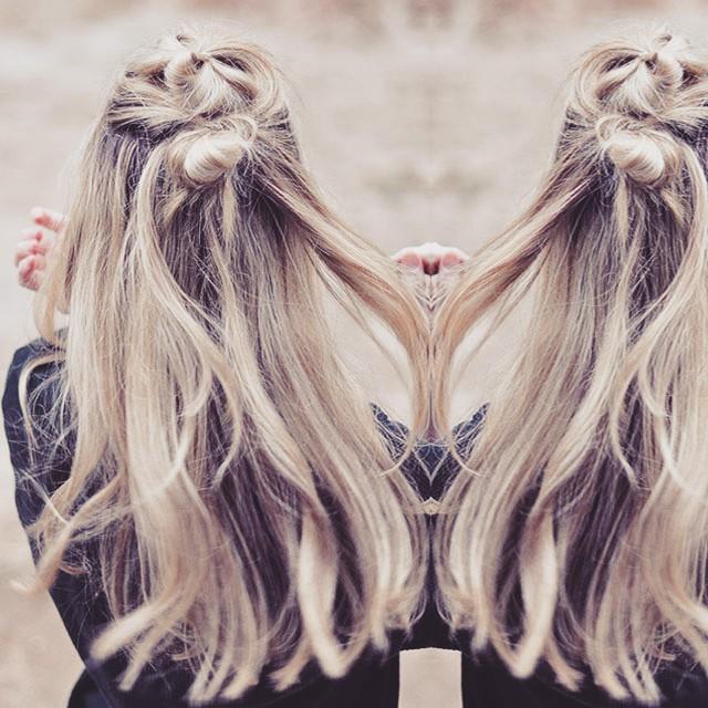top knots hair tutorial